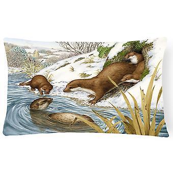 Carolines Treasures  ASA2186PW1216 Playtime Otters Fabric Decorative Pillow