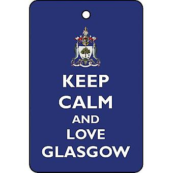Keep Calm And Love Glasgow Car Air Freshener