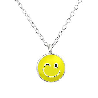 Wink Face - 925 Sterling Silver Necklaces - W29590X
