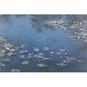 Waterlillies Poster trykk av Claude Monet (36 x 24)