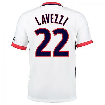 2015-16 PSG Nike Away Kit (Lavezzi 22)
