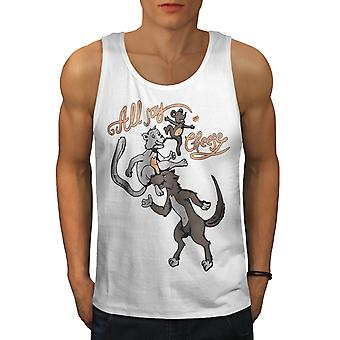 All Say Cheese Fantasy Men WhiteTank Top | Wellcoda