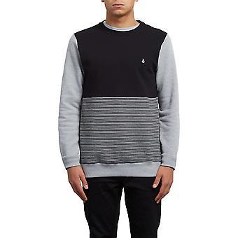 Volcom 3ZY Crew Sweatshirt in Heather Grey