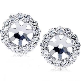 14K White Gold 1/2 CT Diamant Ohrring Jacken