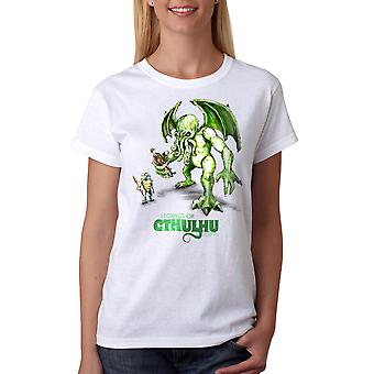 Warpo Cthulhu Illustration Women's White T-shirt