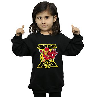 Marvel Girls Avengers Iron Man Logo Sweatshirt