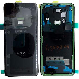 Samsung GH82-15875A batteri cover cover til Galaxy S9 duo + lim pad sort midnat sort nye