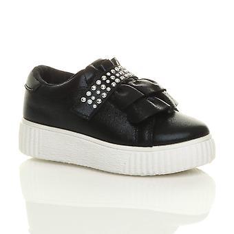 Ajvani tytöt flatform Rypytys nastoitettu puolue kouluttajien pumput kengät