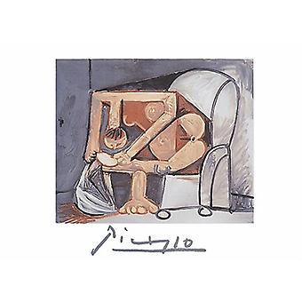 Femme La Toilette (Litho) plakatutskrift av Pablo Picasso (30 x 22)