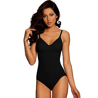 Womens Body Wrap Regular Pin Up Black Underwired Bodysuit 44001