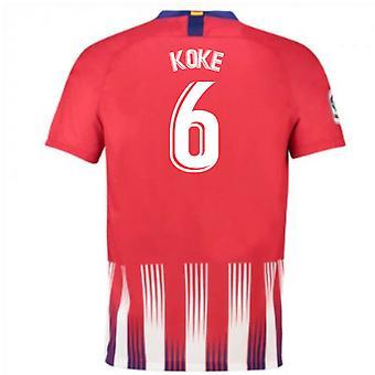 2018-2019 Atletico Madryt Strona główna koszulka piłkarska Nike (Koke 6) - dla dzieci