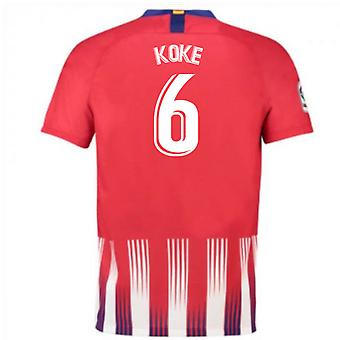 2018-2019 Atletico Madrid Hause Nike Fußballtrikot (Koke 6) - Kinder