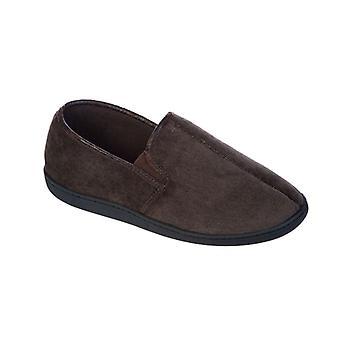 Mens Coolers Premier Brand Corded Microsuede & Polar Fleece Lined Slipper 012 9/10 UK Brown