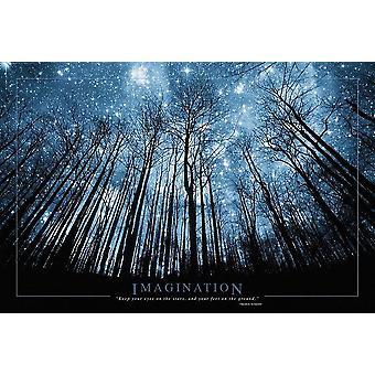 Fantasi plakat træ & stjerneklar nat 61 x 91,5 cm