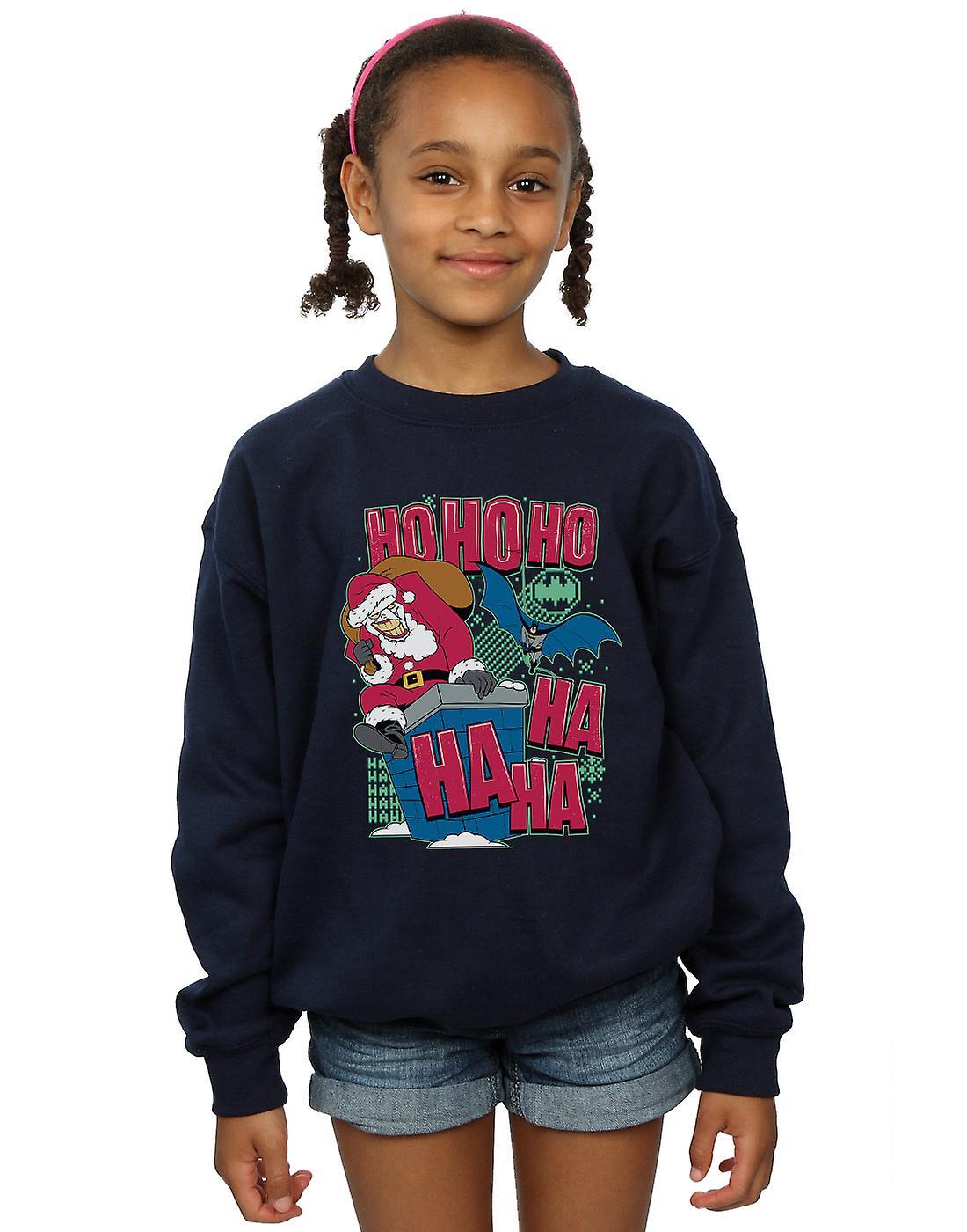 DC Comics Girls Batman And Joker Ha Ha Ha Ho Ho Ho Sweatshirt
