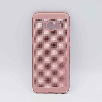 För Samsung Galaxy S8-fall-metall wire mesh titt-Rose Gold