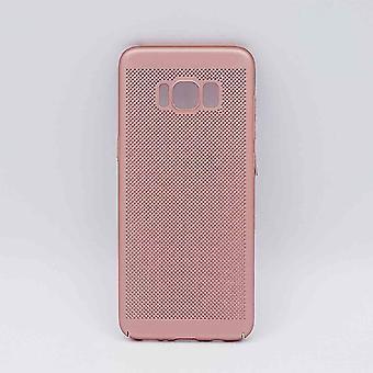 Para Samsung Galaxy S8-caso-metal del acoplamiento de alambre mirada-rosa oro