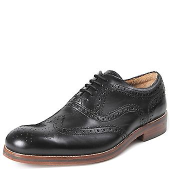 Mens Hudson London Keating Leather Lace Up Work Office Business Smart Shoe