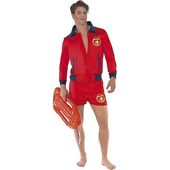 Baywatch Lifeguard Costume, Chest 38