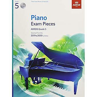 Pezzi di pianoforte esame 2019 & 2020, ABRSM grado 5, con CD