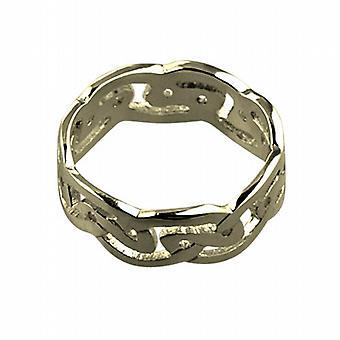 18 قيراط الذهب 8 مم سلتيك خاتم الزواج حجم Z + 1