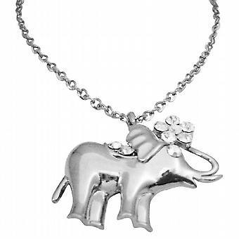 Luppolo dell'anca di pendente elefante dell'annata scintillante Elephant pendente w / CZ