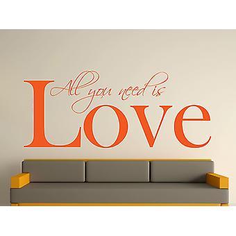 All You Need Art Wall Sticker - orange