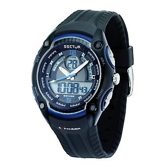 Sector watch quartz digital man with plastic strapping R3251574003
