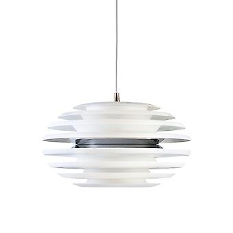 Belid - Ellipse LED Pendant Light Matt White, Chromium Finish 114962