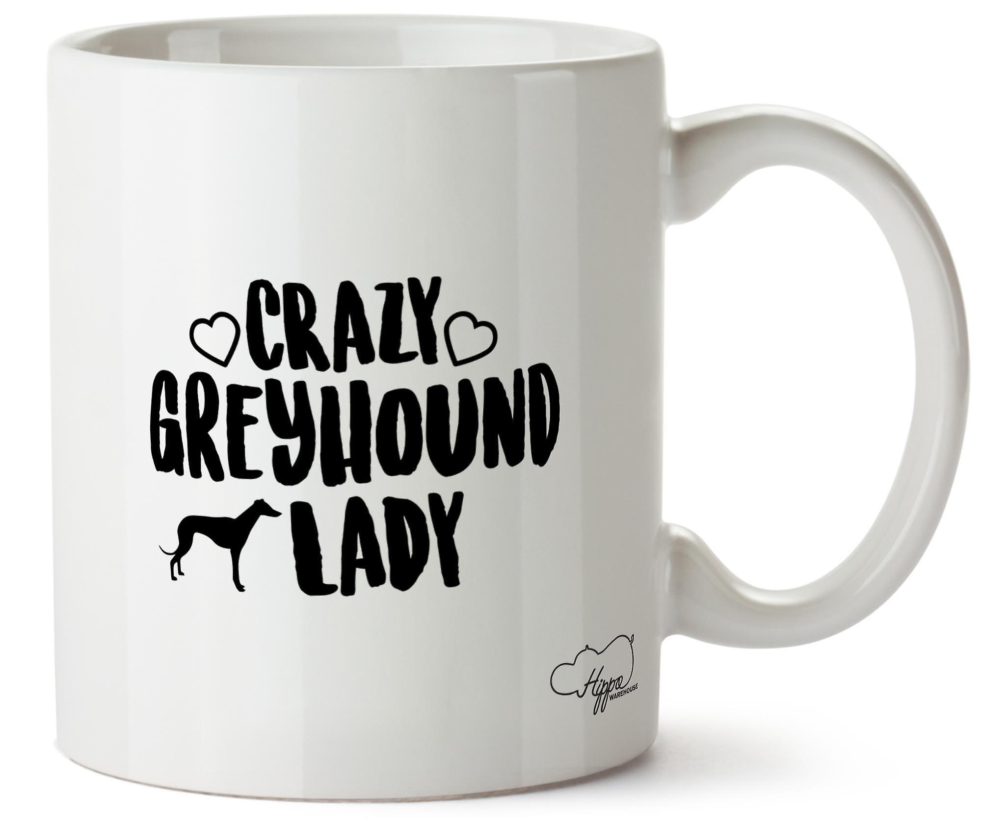 Hippowarehouse ума Greyhound собака леди напечатаны Кубка керамическая кружка 10oz