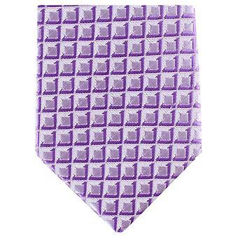 Knightsbridge Neckwear tonální čtvereček hubená polyesterová vázanka-fialový