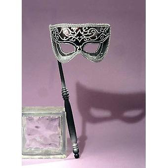 Maskerade venezianische Maske Silber