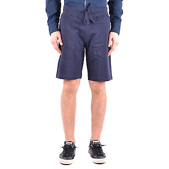 Aeronautica Militare Ezbc047009 Men's Blue Cotton Shorts