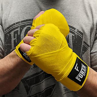 """Forza Sports 120"""" Mexican Style Boxing and MMA Handwraps- Yellow"""