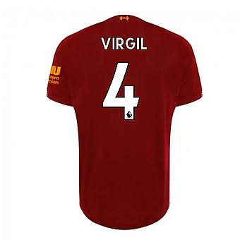 2019-2020 Liverpool Home Football Shirt (Virgil 4)