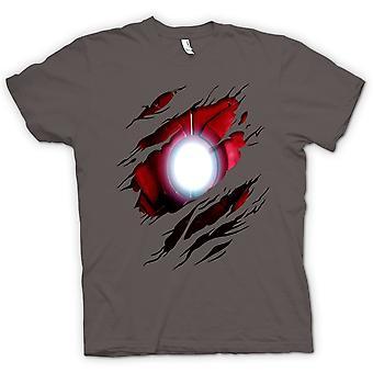 Мужская футболка - Железный человек под рубашку эффект - кино супергероя