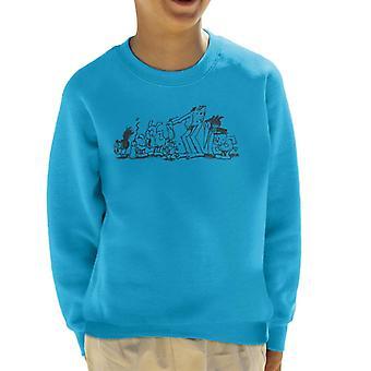 Krazy Kat gruppe børne sweatshirt