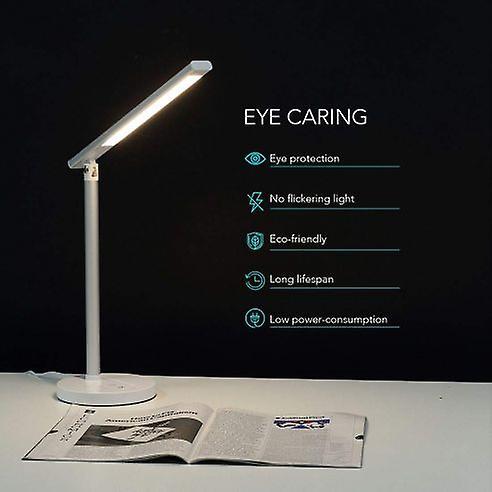 Desk Lamp Eye Caring Led Table Light, 3 Lighting Color And Brightness Mode Lu1W