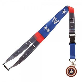 Lanyard - Captain America - Suit Up w/ID Holder New la572ymac
