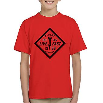 Divide & Conquer Live Fast Wrench Kid's T-Shirt
