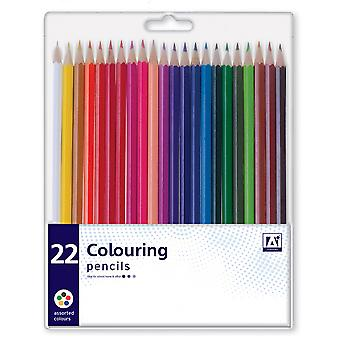 Pack 22 Assorted Premium Colouring Pencils