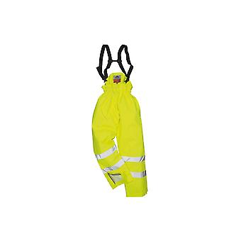 Portwest bizflame rain unlined hi vis antistatic flame retardant trouser s780