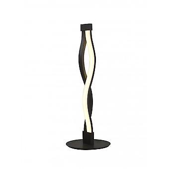 Mantra Sahara bruin oxide tafel lamp 6W 2800K, 420lm, bruin oxide/Wit acryl, 3 jaar garantie