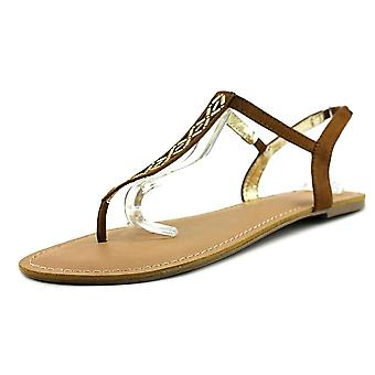 Material Girl Womens Skyler Open Toe Casual T-Strap Sandals