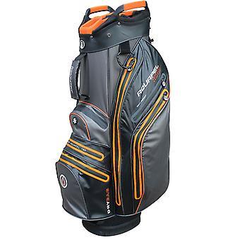 iCart Aquapel 100 Water Proof 14-Way Trolley Cart Golf Bag Black/Orange