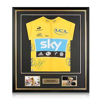 برادلي Wiggins وقعت جولة فرنسا 2012 الأصفر جيرسي ديلوكس الإطار