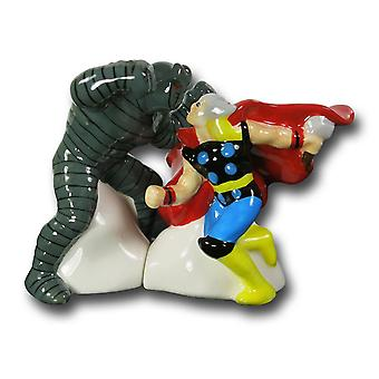 Thor vs. De destroyer Salt & Pepper Shakers