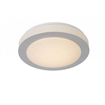 Lucide Dimy moderne Runde Stahl Satin Chrom und Opal spülen Deckenleuchte