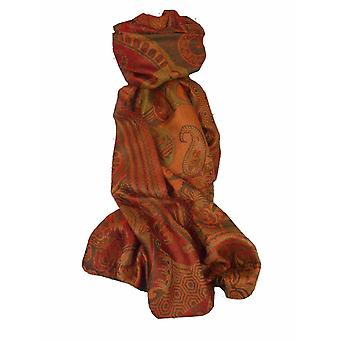 Mens Jamawar Premium Silk Scarf Pattern 5699 by Pashmina & Silk