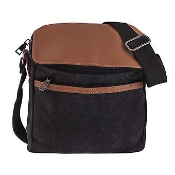 Lærred skuldertaske/taske-khaki